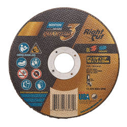 Norton® Quantum™3 RightCut® 66252838462 Small Diameter Cut-Off Wheel, 5 in Dia x 1/16 in THK, 7/8 in Center Hole, 36 Grit, Ceramic Alumina Abrasive