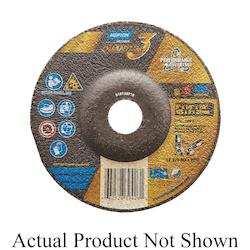 Norton® 66252839426 Depressed Center Wheel, 5 in Dia x 1/8 in THK, 7/8 in Center Hole, 24 Grit, Ceramic Abrasive