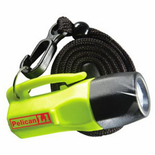 Pelican™ 1930C-YELLOW L1 1930C Safety Approved Flashlight, 0.2 W, LED Bulb, Polycarbonate Resin Housing, 12 Lumens Lumens