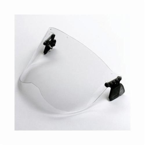 Peltor™ 093045-93619 V2B-10P Anti-Glare Faceshield, For Use With P3EV/2 Hard Hat Adapter and Cap-Mounted Earmuffs, Green Visor, Polycarbonate Glass Visor, 8-1/4 in H x 12-1/8 in W x 0.04 in THK Visor