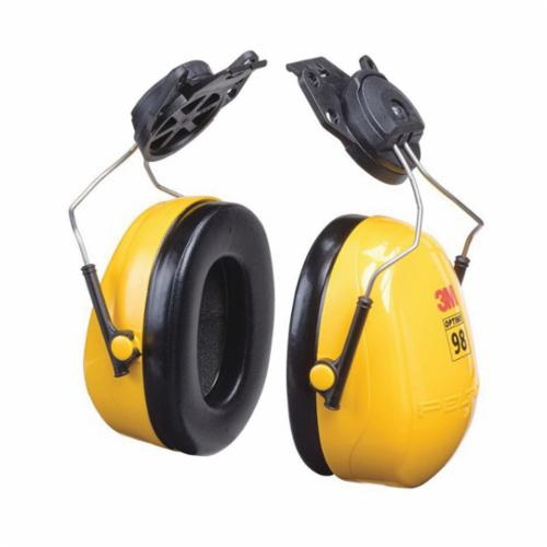 Peltor™ Optime™ 093045-08093 Ear Muff, 23 dB Noise Reduction, Yellow/Black, Hard Hat Mounted Band Position, CSA Certified Class A