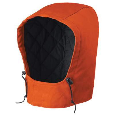 PIONEER® 524 Flame-Resistant Safety Hood, Universal, Orange, Shell Fabric Cotton, Hook and Loop Closure