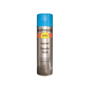 Rust-Oleum® V2124838 V2100 System Enamel Spray Paint, 15 oz Container, Liquid Form, Safety Blue, 12 to 20 sq-ft/can Coverage