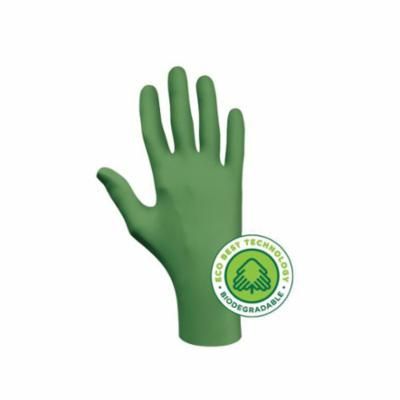 SHOWA® 6110PFXL Disposable Gloves, XL/SZ 9 to 10, Nitrile, Green, 9-1/2 in L, Non-Powdered, Smooth, 4 mil THK, Application Type: Industrial Grade, Ambidextrous Hand