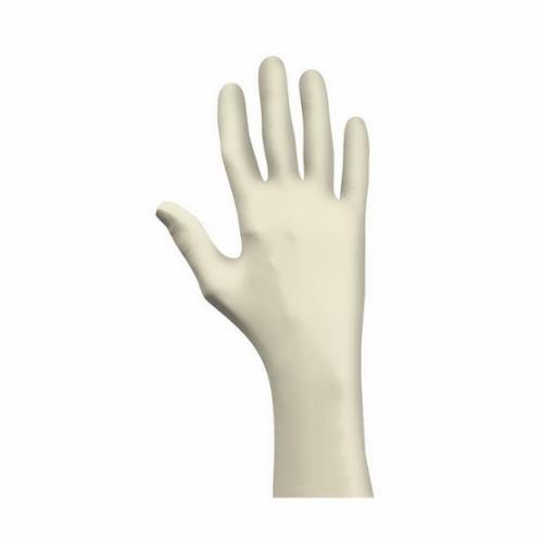 SHOWA® 5005PFL Disposable Gloves, L, Natural Rubber Latex, Natural, 9-1/2 in L, Non-Powdered, Textured, 5 mil THK, Application Type: Exam/Medical Grade, Ambidextrous Hand