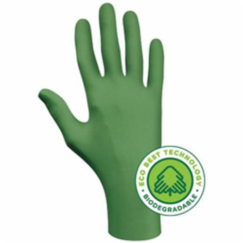 SHOWA® 6110PF Disposable Gloves, L/SZ 8 to 9, Nitrile, Green, 9-1/2 in L, Non-Powdered, Smooth, 4 mil THK, Application Type: Industrial Grade, Ambidextrous Hand