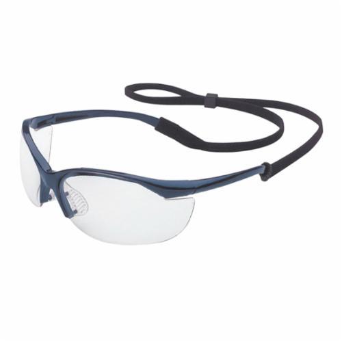Sperian® by Honeywell 11150905 Vapor® Lightweight Safety Eyewear, Fog-Ban® Anti-Fog, Clear Lens, Wrap Around Frame, Metallic Blue, Nylon Frame, Polycarbonate Lens, ANSI Z87.1-2010, CSA Z94.3, AS/NZS 1337