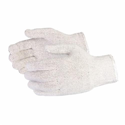 Sure Knit® SQ/L SQ Series Economy Grade General Purpose Gloves, String Knit, L, 7 ga Cotton/Polyester, Natural, Knit Wrist Cuff, PVC Dotted Coating