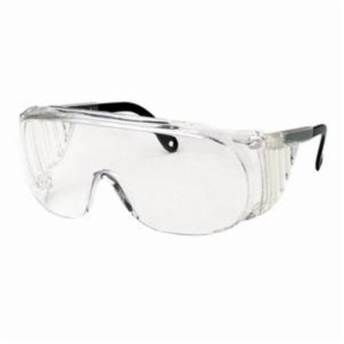Uvex® by Honeywell S0250X Ultraspec® 2000 Safety Eyewear With Solid Sideshields, Uvextreme® Anti-Fog, Clear Lens, OTG Frame, Black/Clear, Nylon Frame, Polycarbonate Lens, ANSI Z87.1-1989, CSA Z94.3, CA 18826