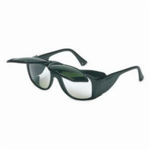 Uvex® by Honeywell S212 Horizon™ Flip-Up Protective Glasses With Side Shields, Anti-Scratch, Shade 3.0 Clear Lens, Black, PVC Frame, Polycarbonate Lens, ANSI Z87.1-1989/Z87.1-2010