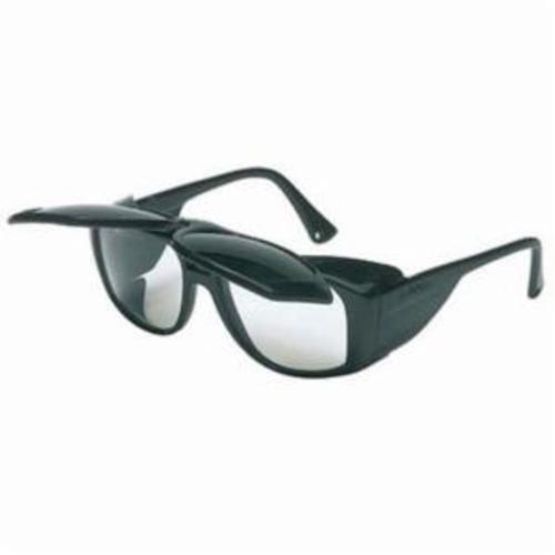 Uvex® by Honeywell S213 Horizon™ Flip-Up Protective Glasses With Side Shields, Anti-Scratch, Shade 5.0 IR Lens, Black, PVC Frame, Polycarbonate Lens, ANSI Z87.1-1989/Z87.1-2010, CA 18