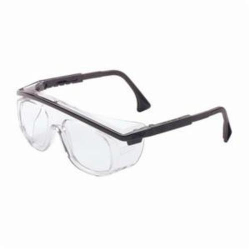 Uvex® by Honeywell S2500C Astrospec® 3001 Lightweight Safety Eyewear, Uvextreme® Anti-Fog, Clear Lens, OTG Frame, Black, Nylon Frame, Polycarbonate Lens, ANSI Z87.1-1989, ANSI Z87.1-2003, CSA Z94.3, CA 18828, Military V0