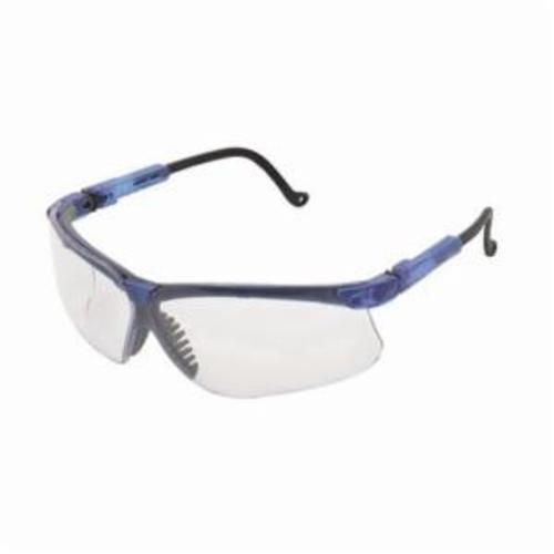 Uvex® by Honeywell S3240X Genesis® High Performance Safety Eyewear, Uvextreme® Anti-Fog, Clear Lens, Wrap Around Frame, Vapor Blue, Polycarbonate Frame, Polycarbonate Lens, ANSI Z87.1-1989, ANSI Z87.1-2003, CSA Z94.3, CA 18828, Military V0