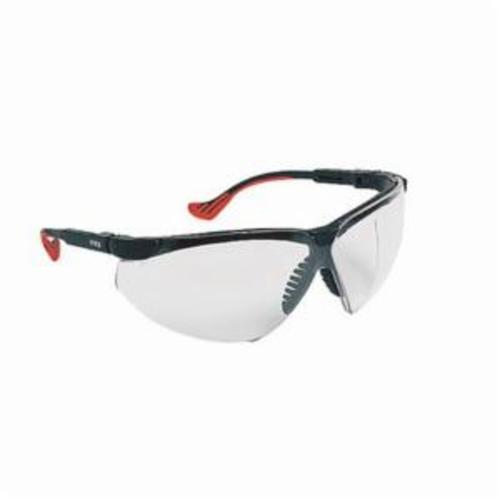 Uvex® by Honeywell S3300X Genesis XC™ Safety Eyewear, Uvextreme® Anti-Fog, Clear Lens, Wrap Around Frame, Black, Polycarbonate Frame, Polycarbonate Lens, ANSI Z87+, ANSI.Z87.1-1989, CSA Z94.3, CA 18819, Military V0