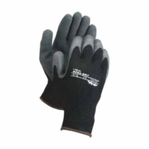 Viking® 73373-10 Thermo MaxxGrip® Supported General Purpose Gloves, Work, SZ 10, Rubber Palm, Cotton/Polyester, Black, Knit Wrist Cuff, Rubber Coating, Resists: Abrasion, Cut, Puncture and Tear, Seamless