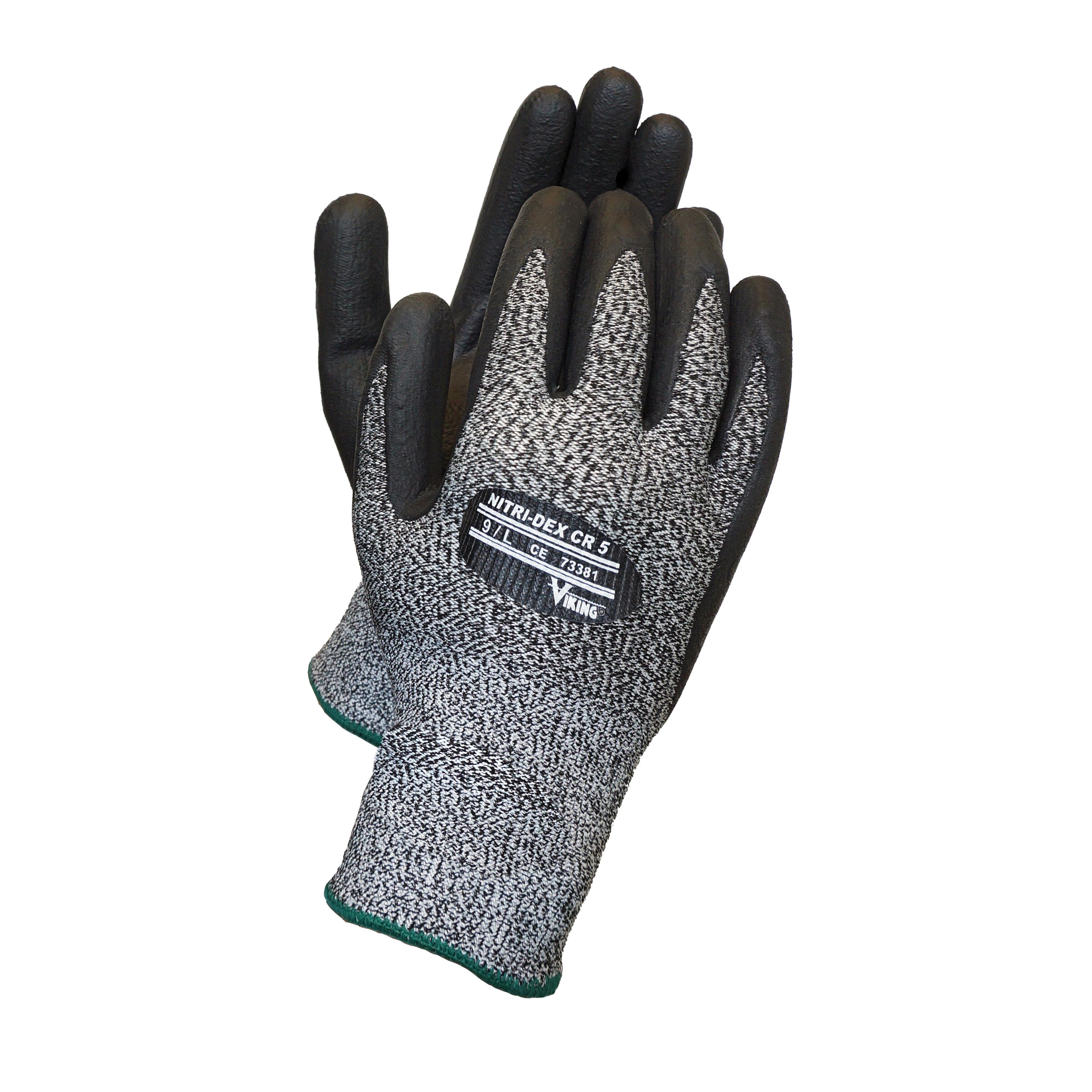 Viking® 73381-10 Cut-Resistant Gloves, XL/SZ 10, Nitrile Butadiene Rubber Coating, Nitrile Butadiene Rubber, Resists: Abrasion, Cut, Puncture and Tear, ANSI Cut-Resistance Level: A4