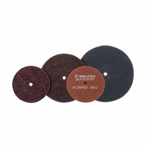 Walter Surface Technologies QUICK-STEP Blendex™ 07R453 07-R Surface Conditioning Non-Woven Surface Conditioning Disc, 4-1/2 in Dia Disc, Medium Grade, Aluminum Oxide Abrasive