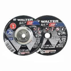 Walter Surface Technologies Zip™ 11L303 Zip™ Type 1 Cut-Off Wheel, 3 in Dia x 1/32 in THK, 3/8 in Center Hole, A-60-ZIP Grit, Aluminum Oxide Abrasive