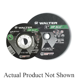 Walter Surface Technologies ZIP ALU™ 11U042 Cut-Off Wheel, 4-1/2 in Dia x 3/64 in THK, 7/8 in Center Hole, A-60-ZIP ALU Grit, Aluminum Oxide Abrasive
