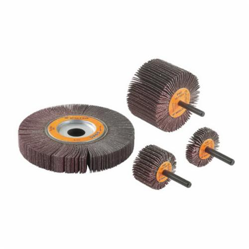 Walter Surface Technologies COOLCUT™ 15F308 Coated Flap Wheel, 2 in Dia Wheel, 1 in W Face, 1/4 in Dia Shank, 80 Grit, Medium Grade, Aluminum Oxide Abrasive