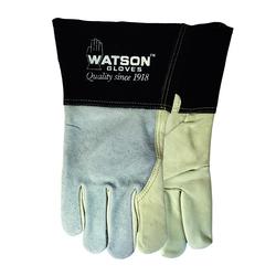 Watson 2757-L Fabulous Fabricator Welding Gloves, L, Split Cowhide Leather, Cotton/Fleece Lining, Gauntlet Cuff
