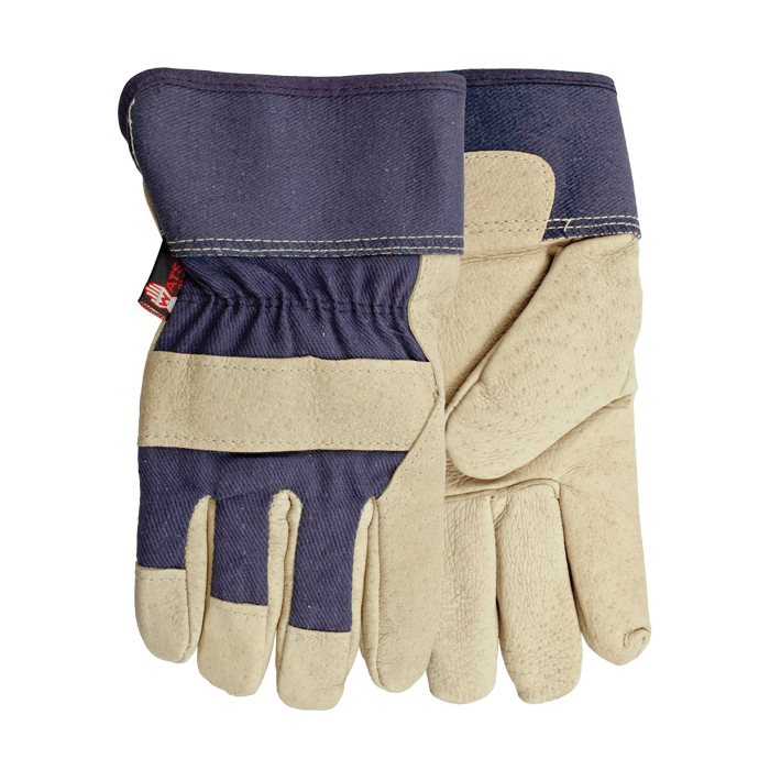 Watson 96266-OS Ms. Liberty Women's General Purpose Gloves 96266, Leather Combo, Hooded Fingertips Style, Universal, Full Grain Pigskin Leather Palm, Cotton/Premium Full Grain Pigskin Leather, Shirred Elastic/Safety Cuff, Foam Lining