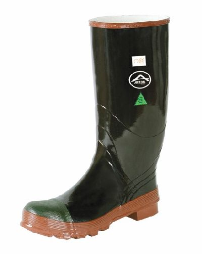 "Rubber Boot Regence 15"" Steel Toe And Plate Black - 4"