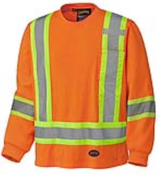 "Shirt 100% Cotton Long Sleeve 4"" Stripes - 2Xl"