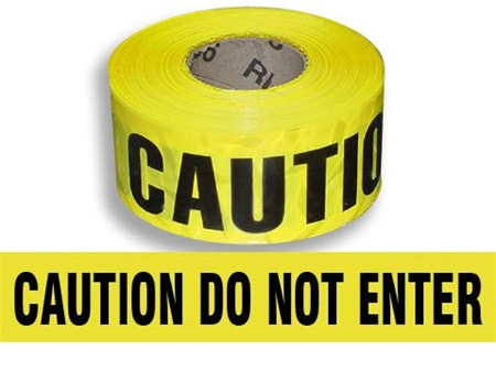 Barrier Tape Caution Do Not Enter Yellow 3 X 1000