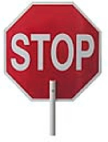 "Stop Sign Double Sided 12"" Aluminum With 12"" Wood Handle"