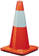 Traffic Cone With Reflective Collar 28""