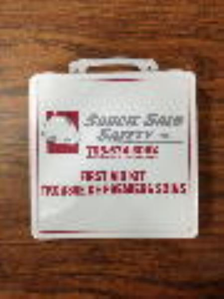 First Aid Kit Plastic With Soucie Logo 6-15 Ppl