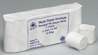 Gauze Bandage 1Inx5 Yds Roll