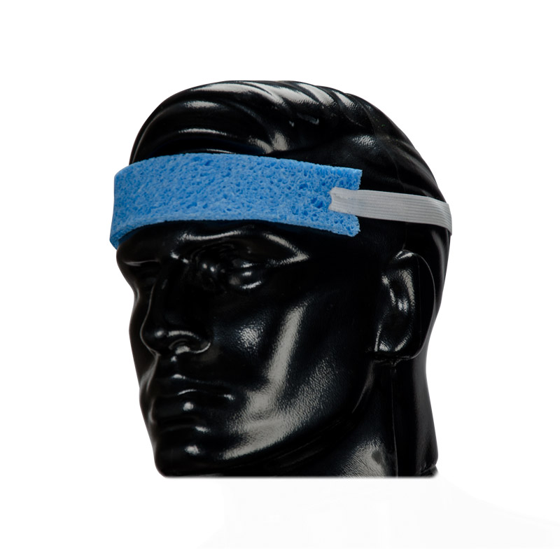 Sweatband, Blue Sponge W/Elastic Strap