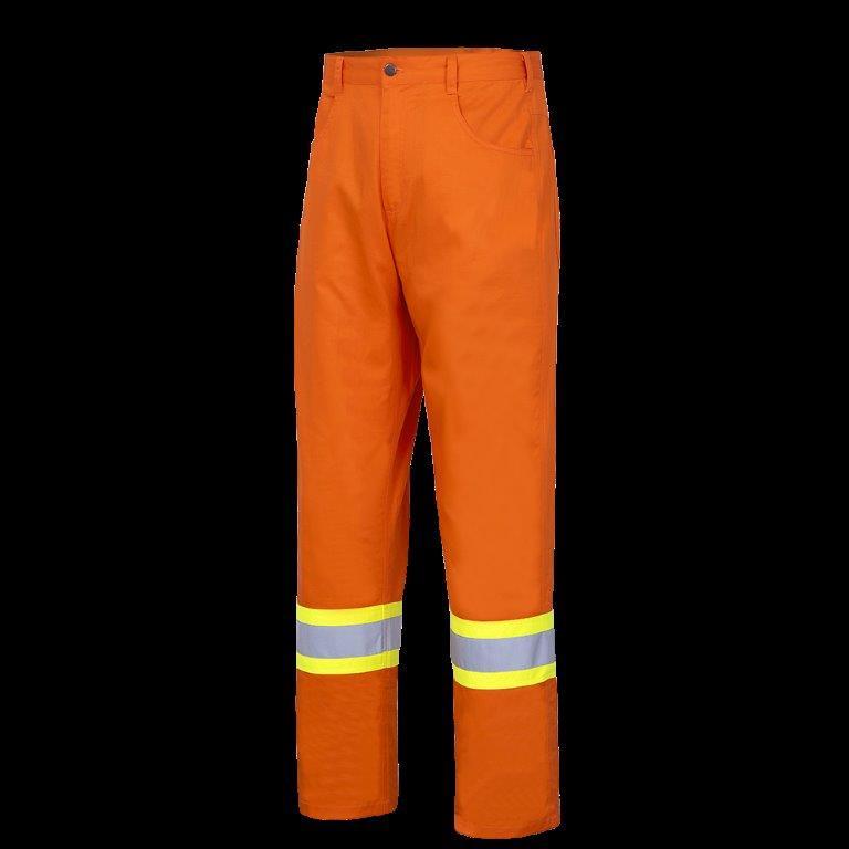 Hi-Viz Cotton Safety Pants - Ultra-Cool - Cotton Twill