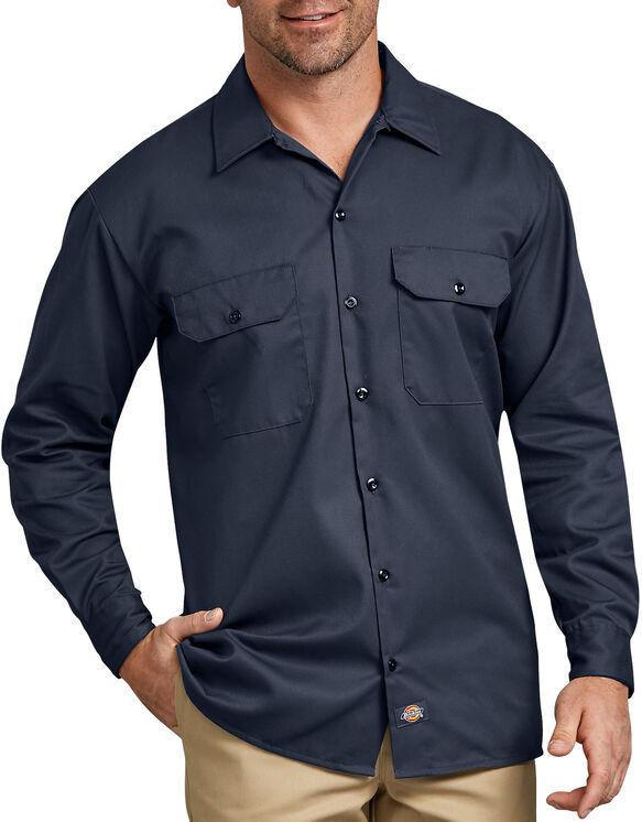 ShirtWorkL/SlButtonDickiesDarkNavy Large