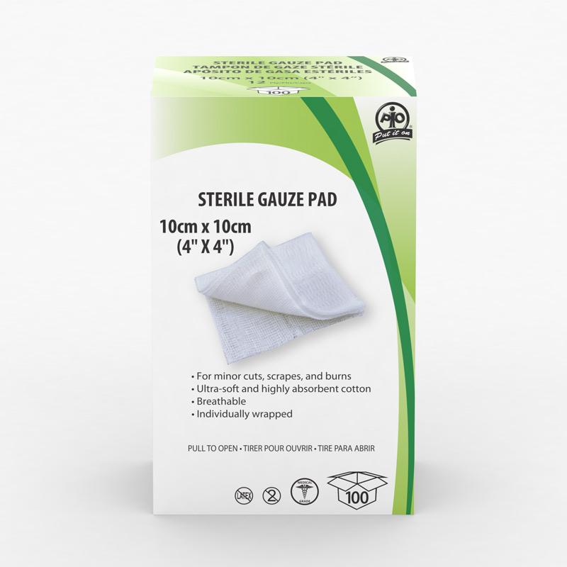 Gauze Pads Sterile 4 X 4 (100/Box)