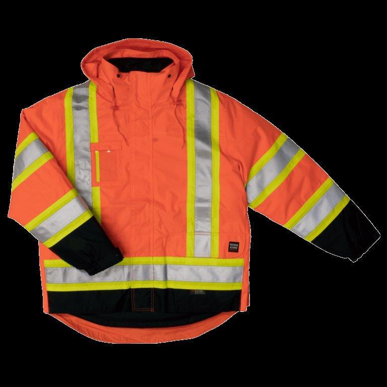 5 In 1 Safety Jacket Orange