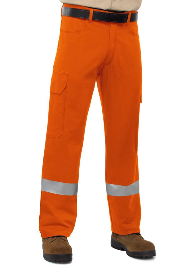 Cargo Pants Fire Retardant Indura Ultrasoft Orange With Stripes - 30 X 32