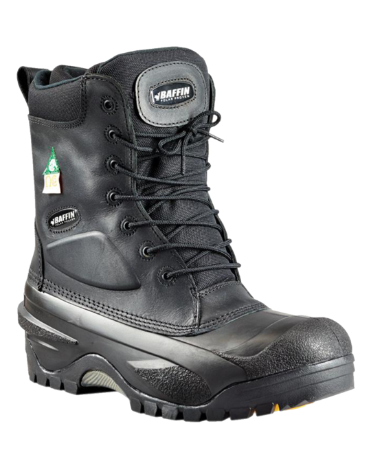 BAFFIN® Workhorse (STP) 7157-0238-001-10 Conviction Safety Winter Work Boots, Men's, SZ 10, 8 in H, Composite Toe, Leather Upper, Rubber Outsole, Resists: Oil and Acid, Specifications Met: CSA, ASTM, CE Certified (Select Size to View Price/Availability)