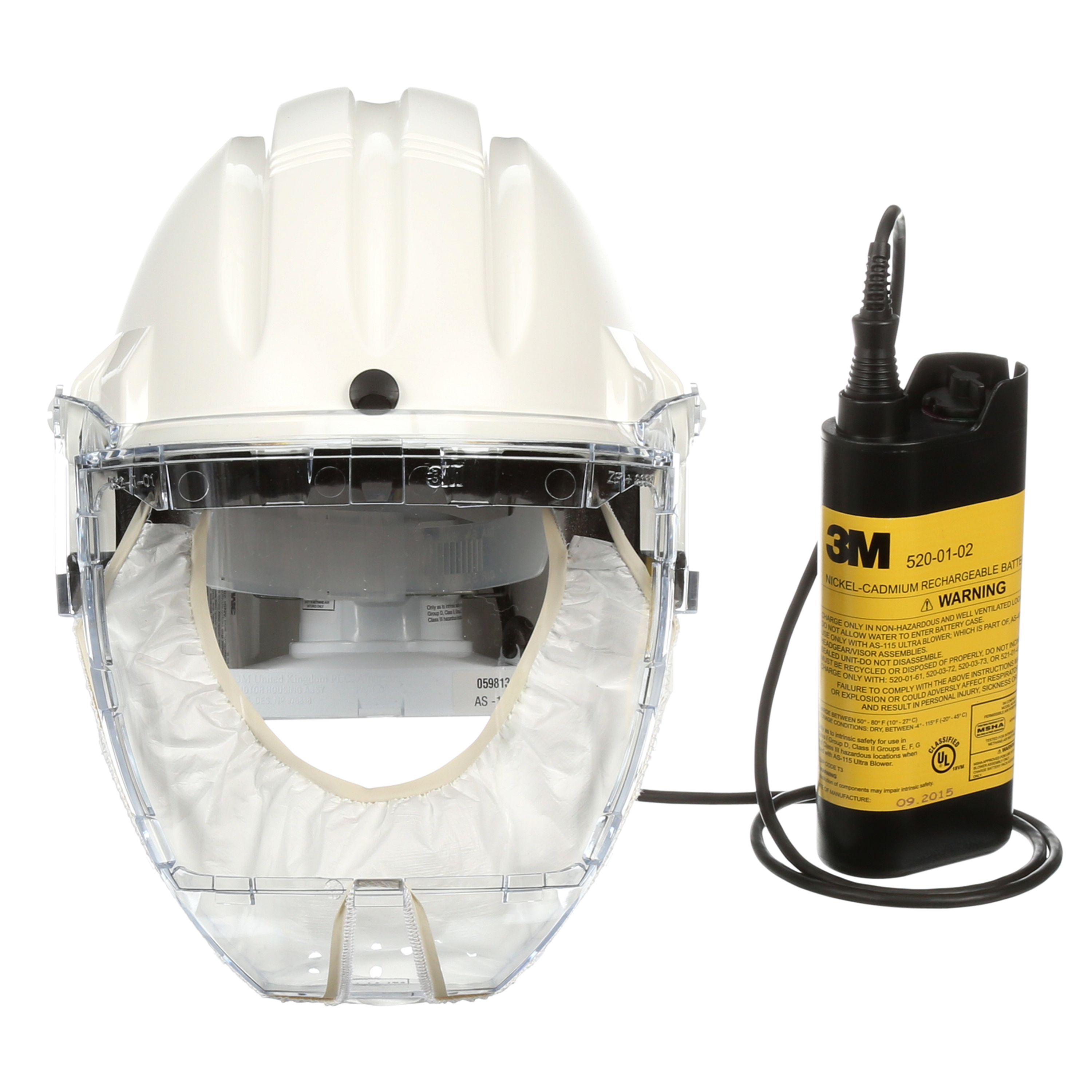 3M™ Airstream™ Headgear-Mounted Powered Air Purifying Respirator System, AS-400LBC, white, 1/pack