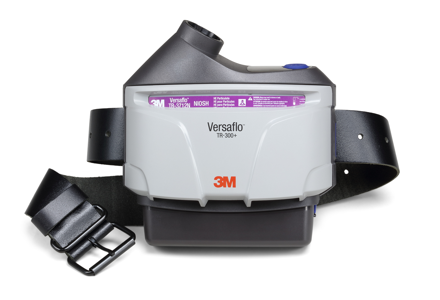 3M™ Versaflo™ Powered Air Purifying Respirator Assembly, TR-306N+, with high durability belt and high capacity battery, 1/case